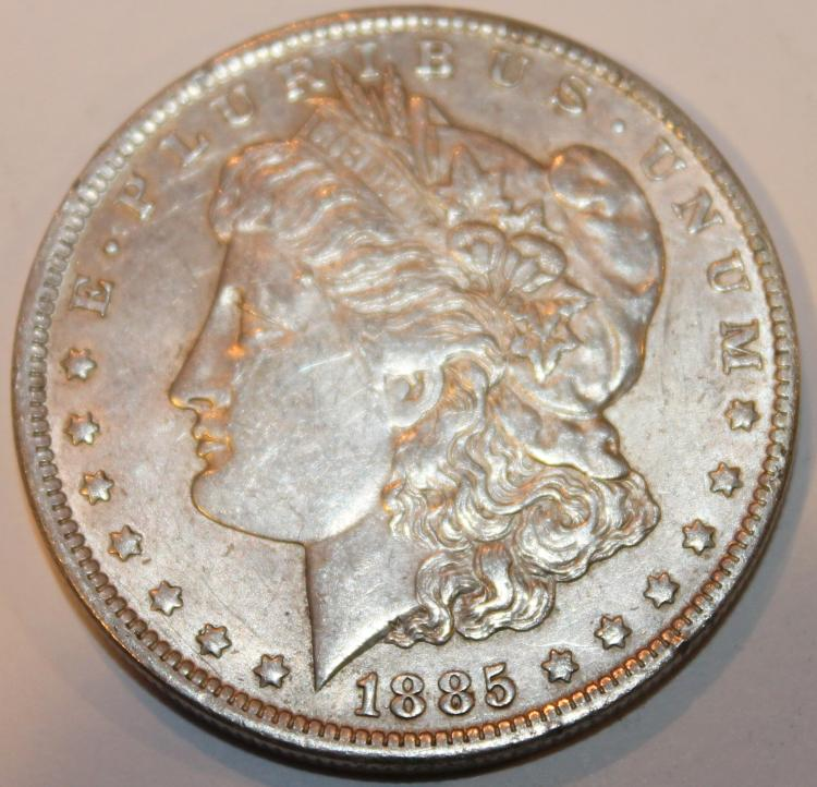 1885-O Morgan Silver Dollar Coin EF-40
