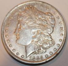 Lot 137: 1885-O Morgan Silver Dollar Coin EF-40