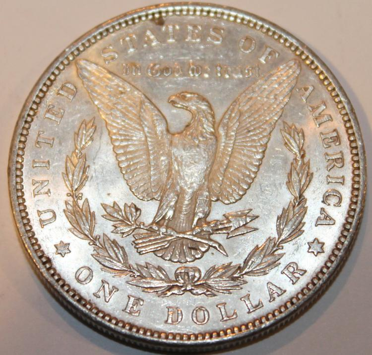 Lot 138: 1891 Morgan Silver Dollar Coin AU-50