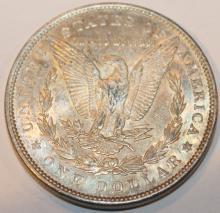 Lot 139: 1890 Morgan Silver Dollar Coin AU-50