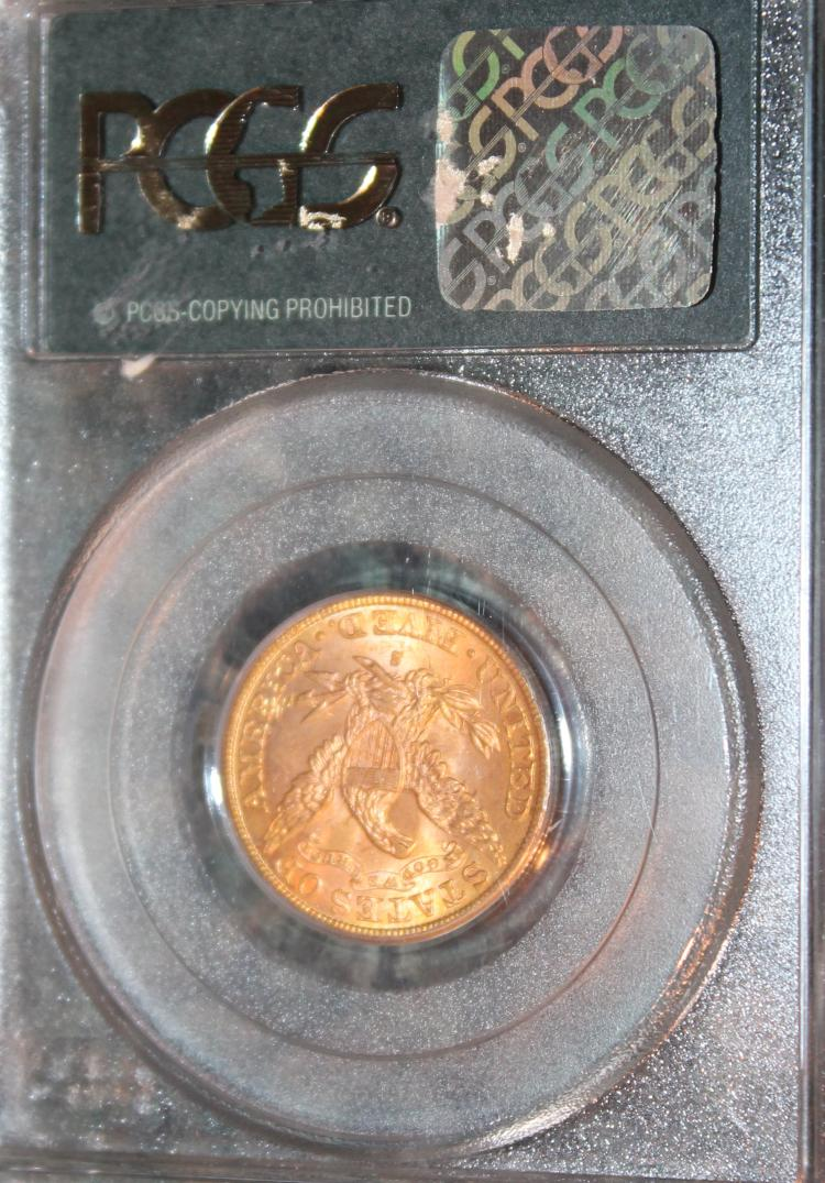 Lot 142: 1886-S Liberty Head Gold Half Eagle Coin PCGS Rated MS-63