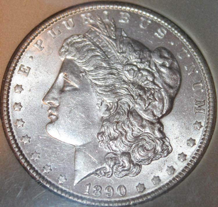 Lot 144: 1890 Morgan Silver Dollar Coin SDG Rated MS-68