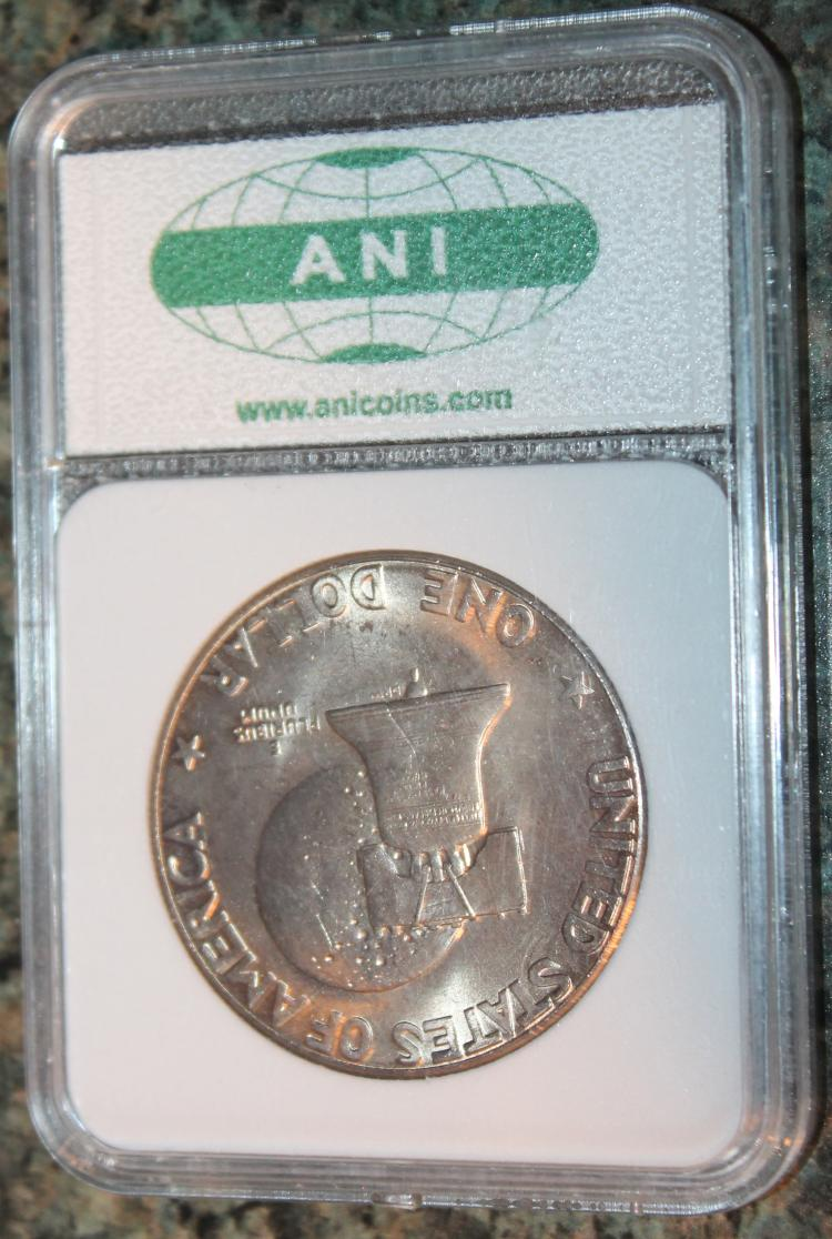 Lot 149: 1976-D Eisenhower Bicentennial Dollar Coin ANI Rated MS-70