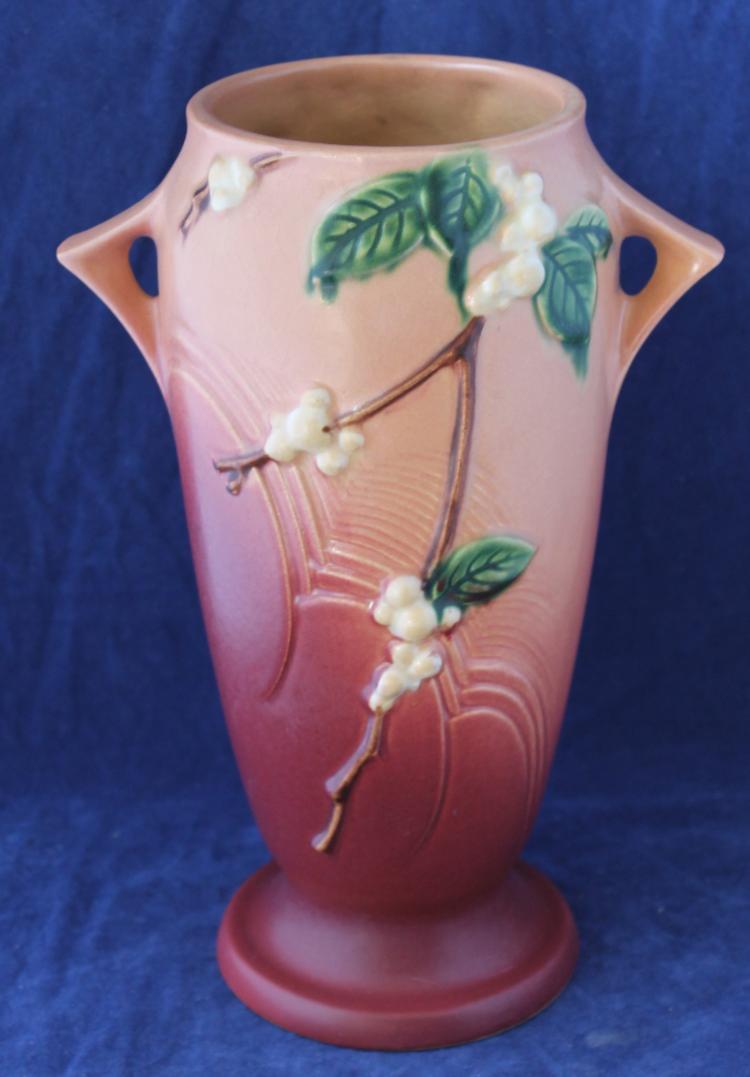 Roseville Pottery Snowberry Vase #1V1-10 Inch USA