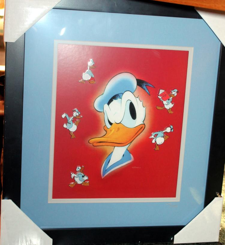 Walt Disney Framed Donald Duck70th Anniversary Pin Set