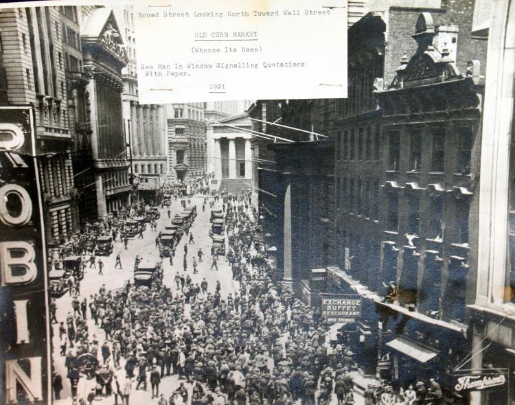 "c1921 Original Photograph New York City ""Old Curb Market"""