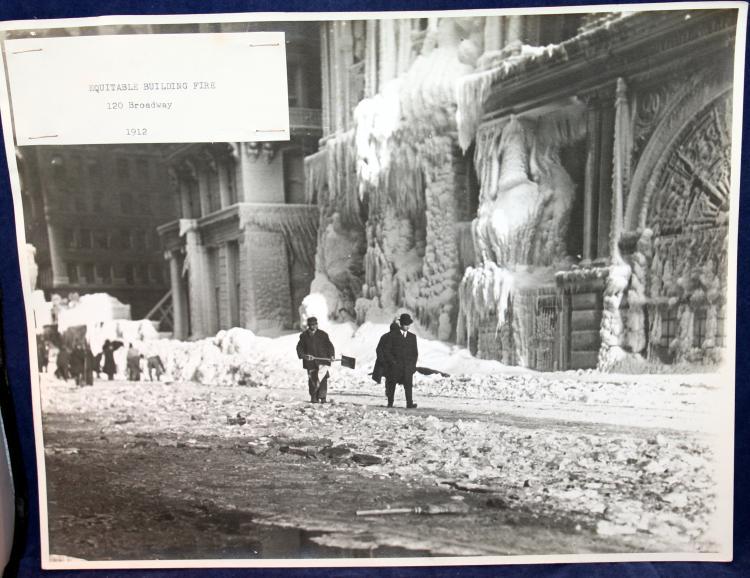 "c1912 Original Photograph ""Equitable Building Fire"" 120 Broadway New York City"