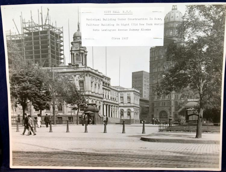 "c1907 Original Photograph ""City Hall N.Y.C."""