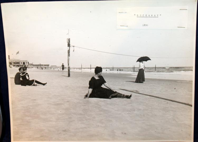 "c1890 Original Photograph ""Rockaway"" Beach Scene New York City"