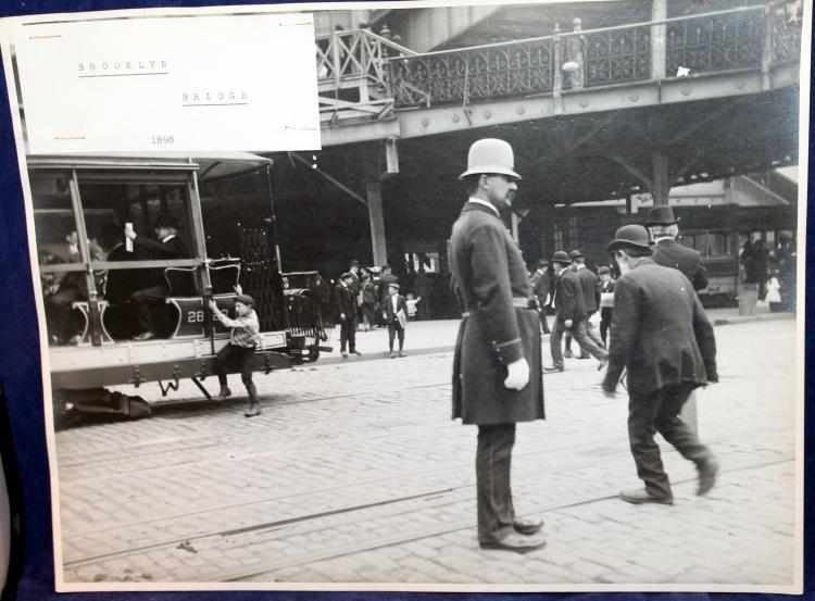"c1898 Original Photograph ""Brooklyn Bridge"" New York City"
