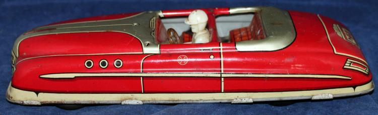 Marx Tin Lithograph Key Wind Up Car c1940's