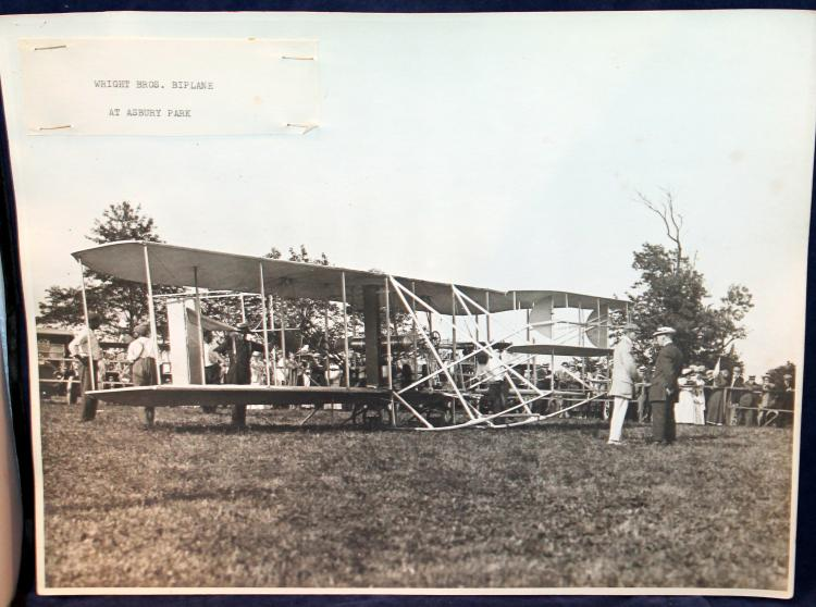 Original Photograph The Wright Brothers Biplane At Asbury Park NJ