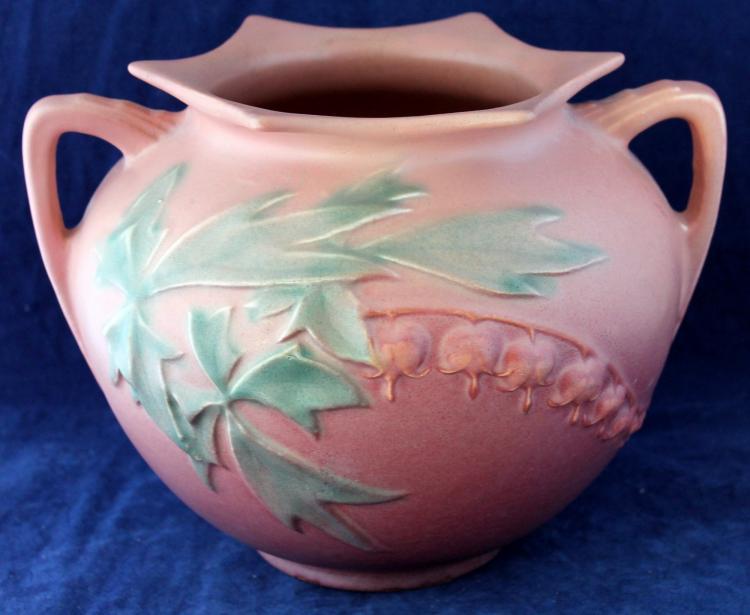 Roseville Pottery Bleeding Heart Bowl #378-6 Inch USA
