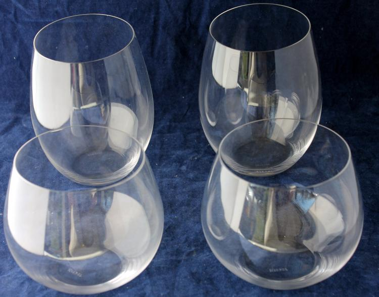 Set of 4 Riedel Elegant Glass Tumblers