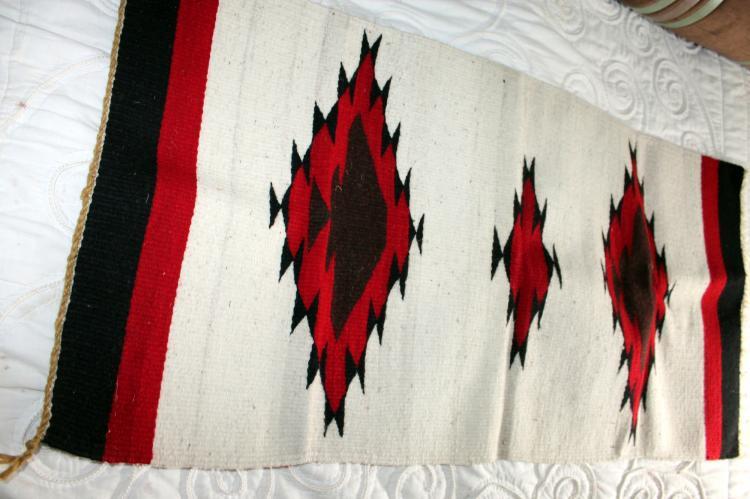 Vintage Navajo Kneeling Rug Great Colors