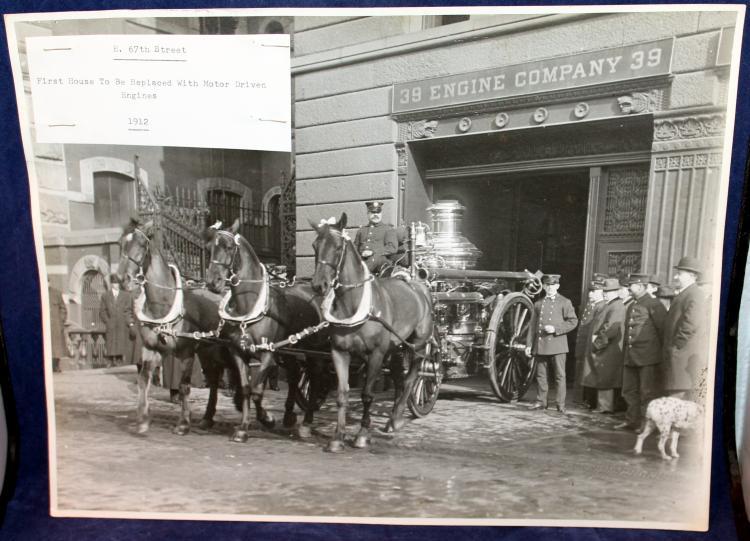 New York City 39 Engine Company Photograph Horse Drawn Fire Engine