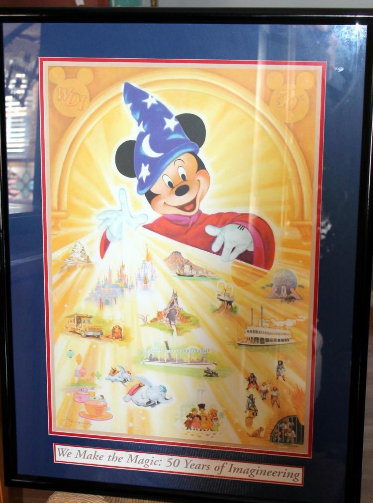 "2002 Walt Disney ""We Make the Magic, 50 Years Or Imaineering"" Lithograph"