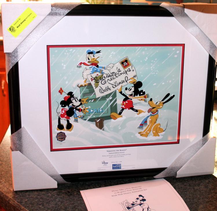 "Walt Disney ""Greeting The Season"" Limited Edition Sericel"