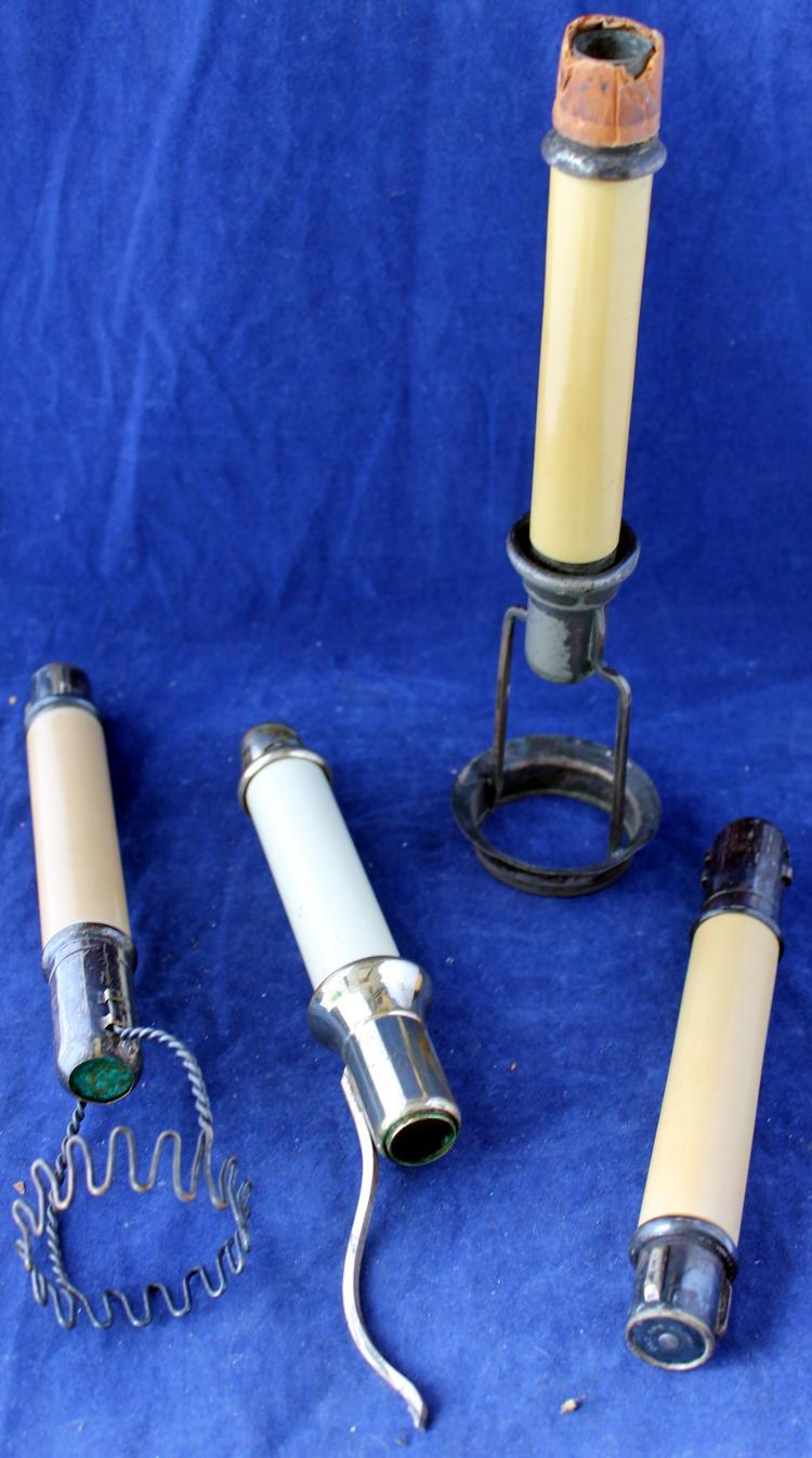 4 Unique Gorham Silver Co Pat'd 1902 Candlestick Holders