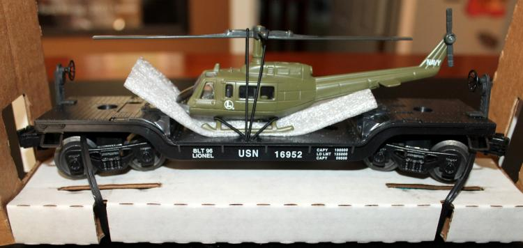 Lionel Trains US Navy Flatcar With Helicopter #6-16952
