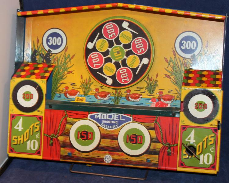 Wyandotte Toys Tin Lithograph Model Shooting Gallery