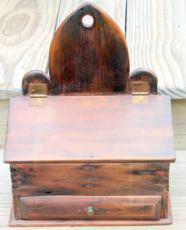c1790's Primitive Wooden Candle Box