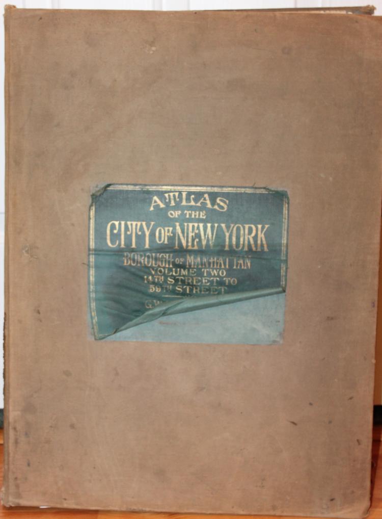 Set of 2 Atlas' Of the City Of New York Borough Of Manhattan c1931