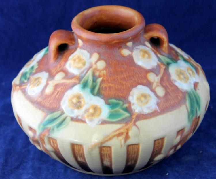 Roseville Pottery Cherry Blossom Vase #617-3 1/2 Inch USA