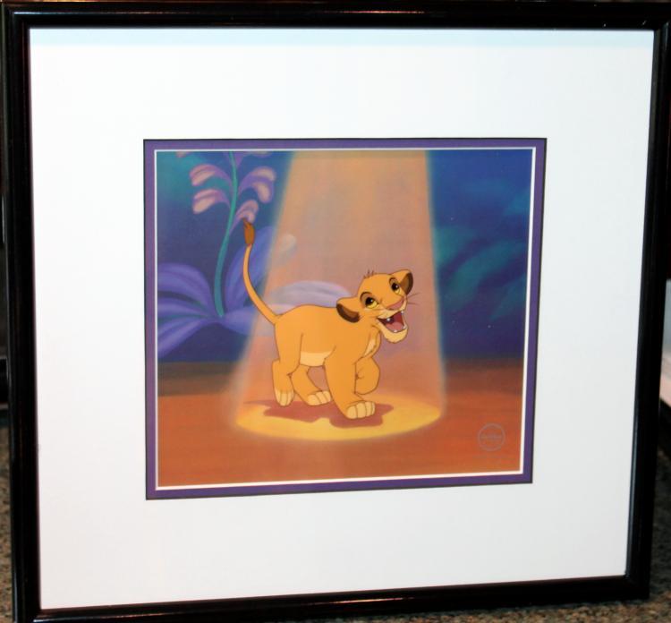 "Walt Disney Framed Lion King Sericel ""Simba's Spotlight"""