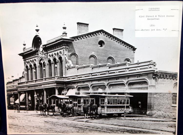 "c1890 Original Photograph ""CARBARNS"" 63rd St & 3rd Avenue Manhattan"