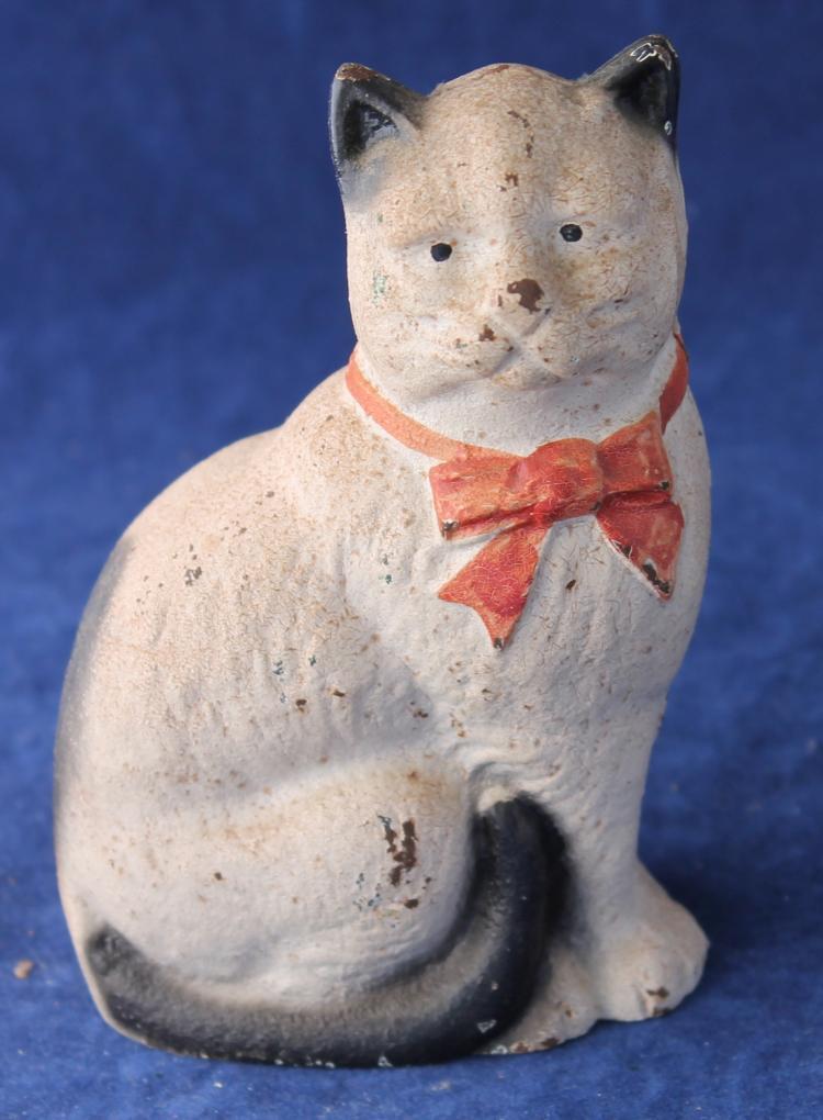 Vintage Cat Cast Iron Still Bank