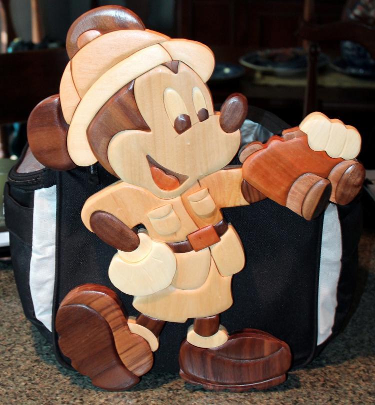 Walt Disney Gordon J. King Safari Mickey Wood Medium Cut Out