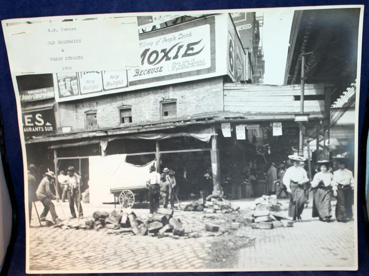 c1900 Original Photograph NYC N. W. Corner Old Greenwich & Vesey Streets