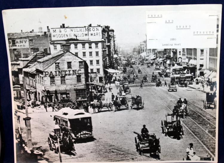 c1880 Original Photograph NYC Canal And Grand Streets Looking West