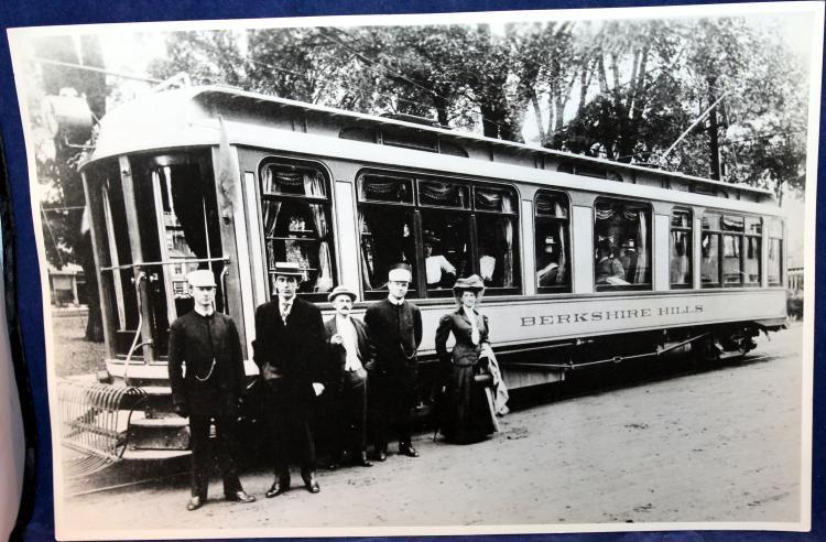 c1915's Original Photograph NYC Berkshire Trolley Electrified