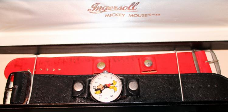 Late 1960's Mickey Mouse Electric Wrist Watch In Original Box