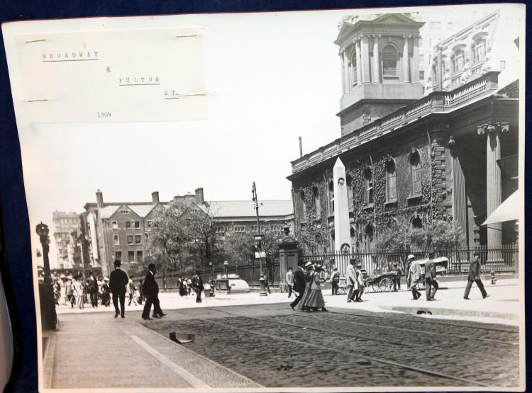 "1904 Original Photograph ""Broadway & Fulton Street"" New York City"