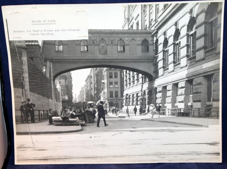 "c1900 Original Photograph ""Bridge Of Sighs"" New York City"