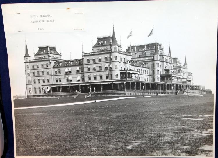 "Original photograph c1900 ""Hotel Oriental"" Manhattan Beach New York City"