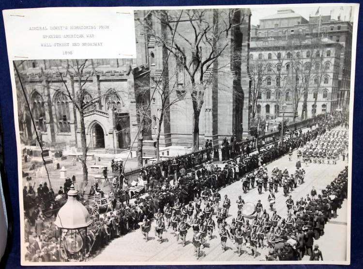 """c1898 Original Photograph """"Admiral Dewey's Homecoming From The Spanish American War"""" NYC"""