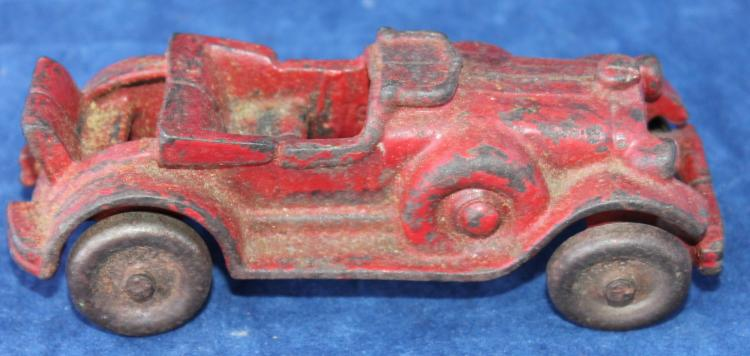 Cast iron Arcade Toys Red Coupe Car Penny Toy Of The Day