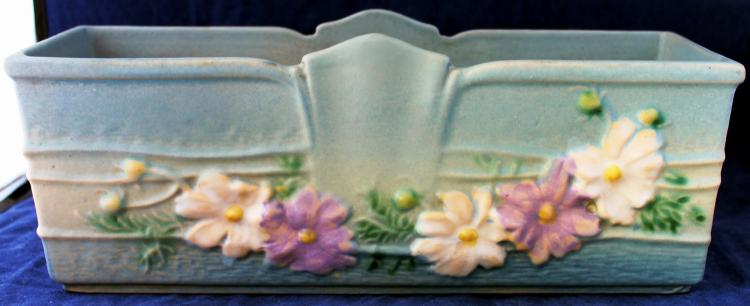 Roseville Pottery Cosmos Window Box #381-9 Inch USA