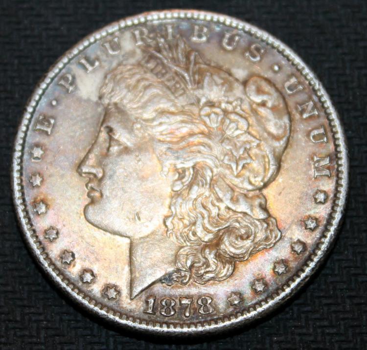 1878-S Morgan Silver Dollar Coin Third Reverse VF-20 Or Better