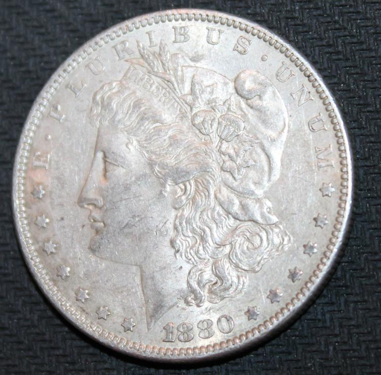 1880-O Morgan Silver Dollar Coin EF-40