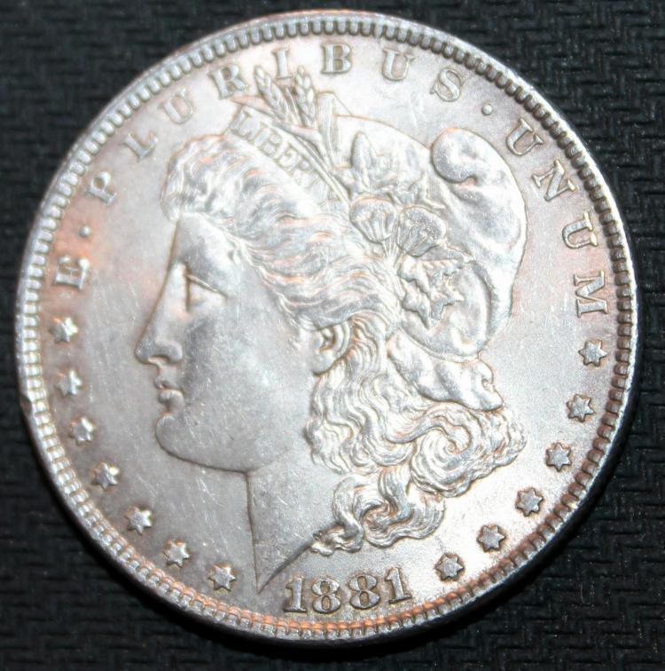 1881 Morgan Silver Dollar Coin EF-40