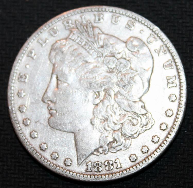 1881-O Morgan Silver Dollar Coin EF-40