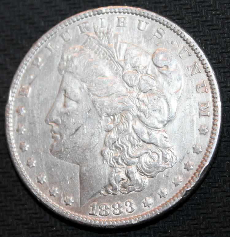 1883 Morgan Silver Dollar Coin EF-40 Or Better