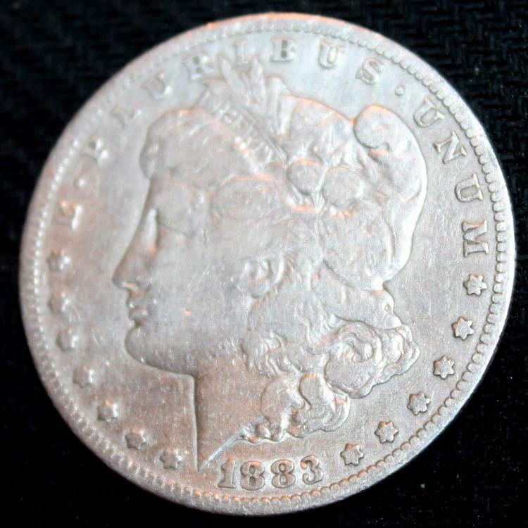 1883-S Morgan Silver Dollar Coin VF-20 Or Better