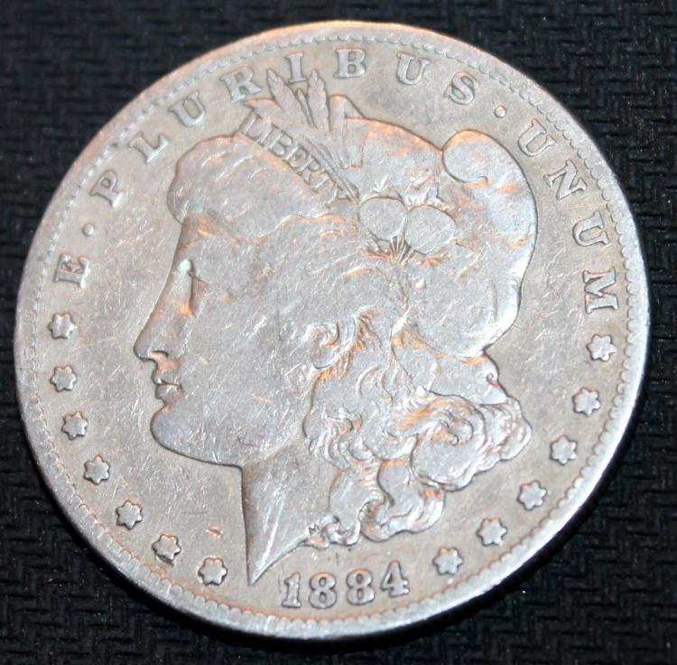 1884-S Morgan Silver Dollar Coin VF-20 Or Better