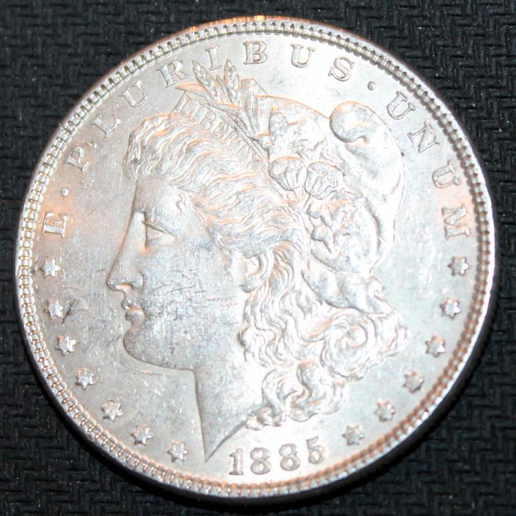 1885 Morgan Silver Dollar Coin EF-40 Or Better